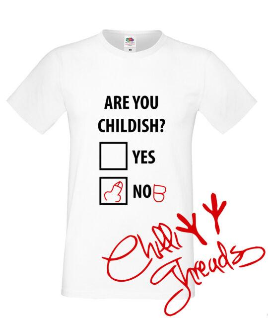Are You Childish? Funny, Adult Humour T-shirt premium t shirt tshirt