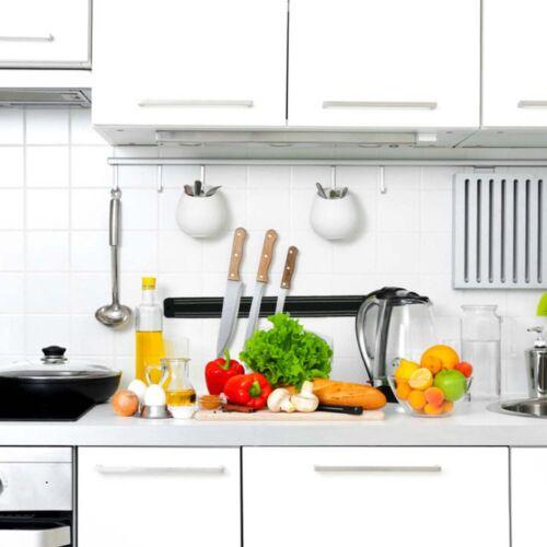 Cuchillo de cocina montado en pared magnética fuerte Imán Barra Holder Display Rack Tira