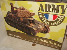 Heller 81132 Hotchkiss H-35 Tank with Crew Figures Model Kit  in 1:35 Scale.