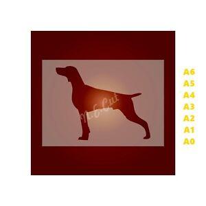 WEIMARANER-Dog-Stencil-350-micron-Mylar-not-Hobby-stuff-DOGS105