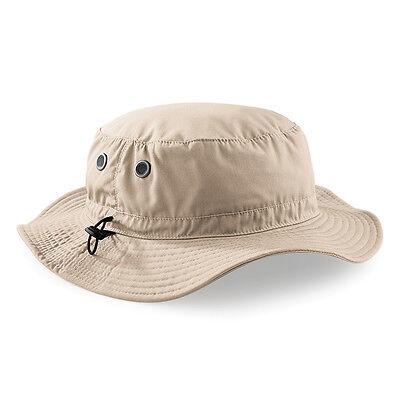 Beechfield BC088 Cargo Bucket Hat Sun Shade Summer STONE One Size UNISEX