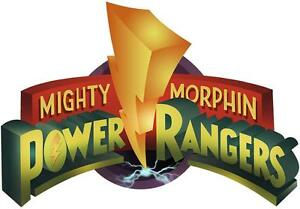 Image Is Loading POWER RANGERS LOGO Mighty Morphin Decal Removable WALL  Part 54