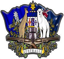 Australian coat of arms DECAL  NED KELLY BUNDY BEAR 160MM BY 150MM