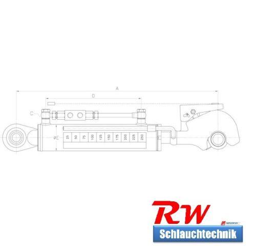 Schläuche Rückschv. 2 incl gest 230 mm Hub Hydraulischer Oberlenker Kat