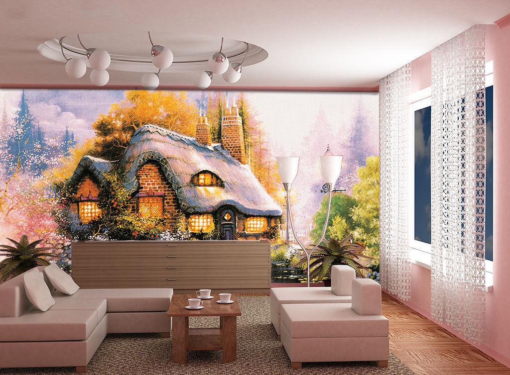 3D Swans Lake Lodge 82 Wall Paper Murals Wall Print Wall Wallpaper Mural AU Kyra