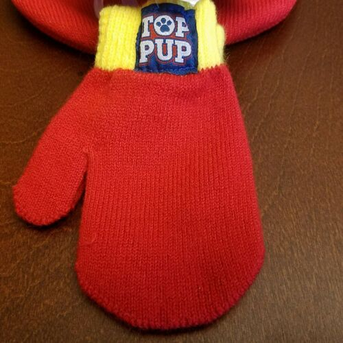 Paw Patrol Toddler Marshall Boy Toboggan Hat and Mittens New With Tags