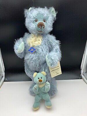 Fiducioso Schildkröt Teddy Orso Con Orsacchiotto 43 + 16 Cm. Ottimo Stato-