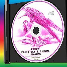 OVER 2000 FANTASY DECOUPAGE IMAGES VINTAGE & MODERN FAIRIES ANGELS ELVES NEW CD