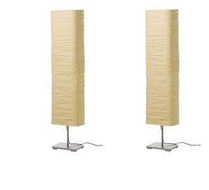 Ikea Magnarp Light Floor Lamp Set Of 2 Rice Paper Shade
