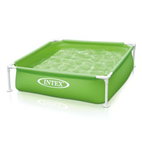Intex 57172EP 48 x 12 Inch Mini Frame Kids Beginner Kiddie Swimming Pool Green
