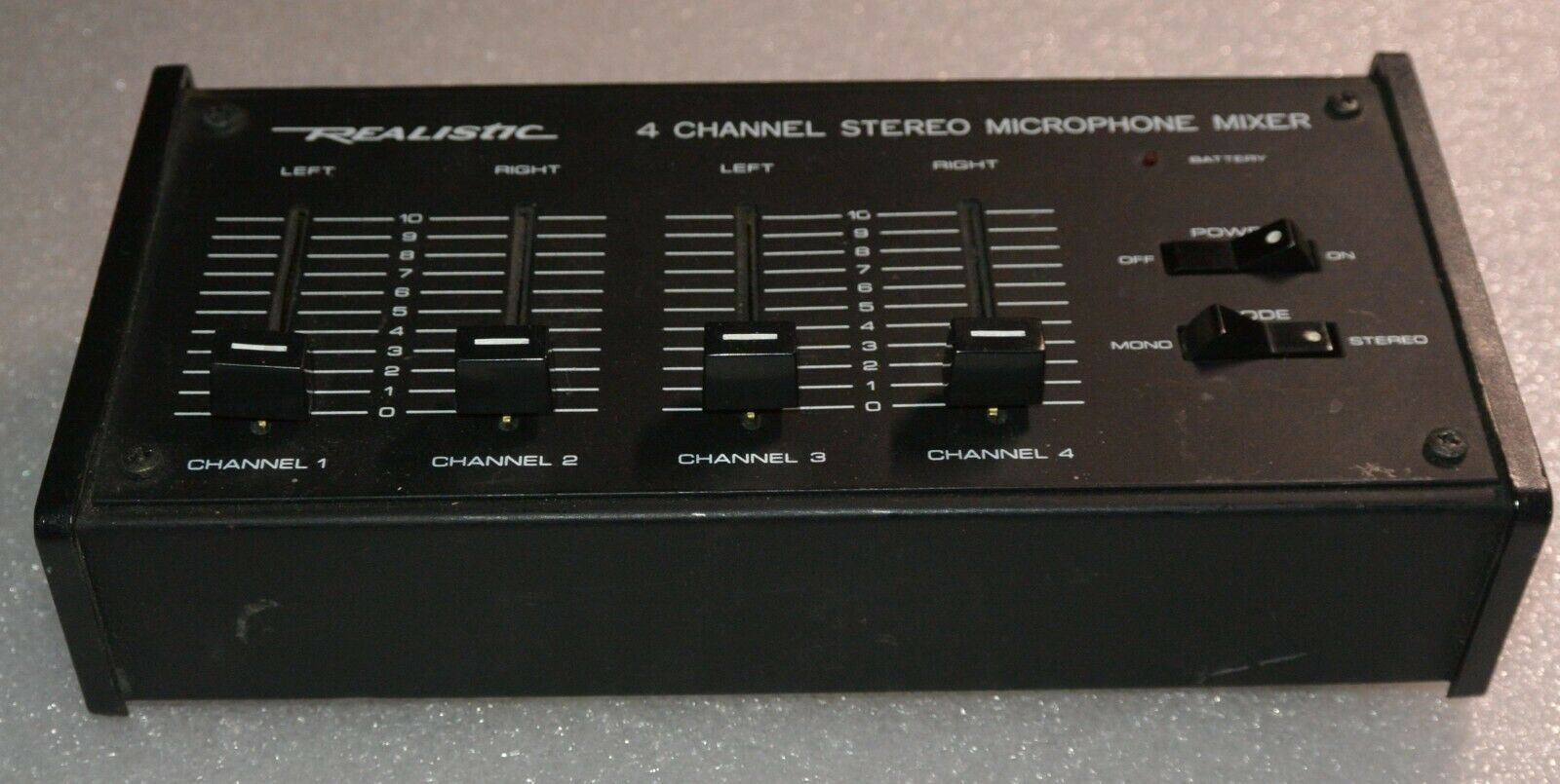 Realistic Radio Shack 4 channel Stereo Microphone Mixer 32-1105. Buy it now for 69.99