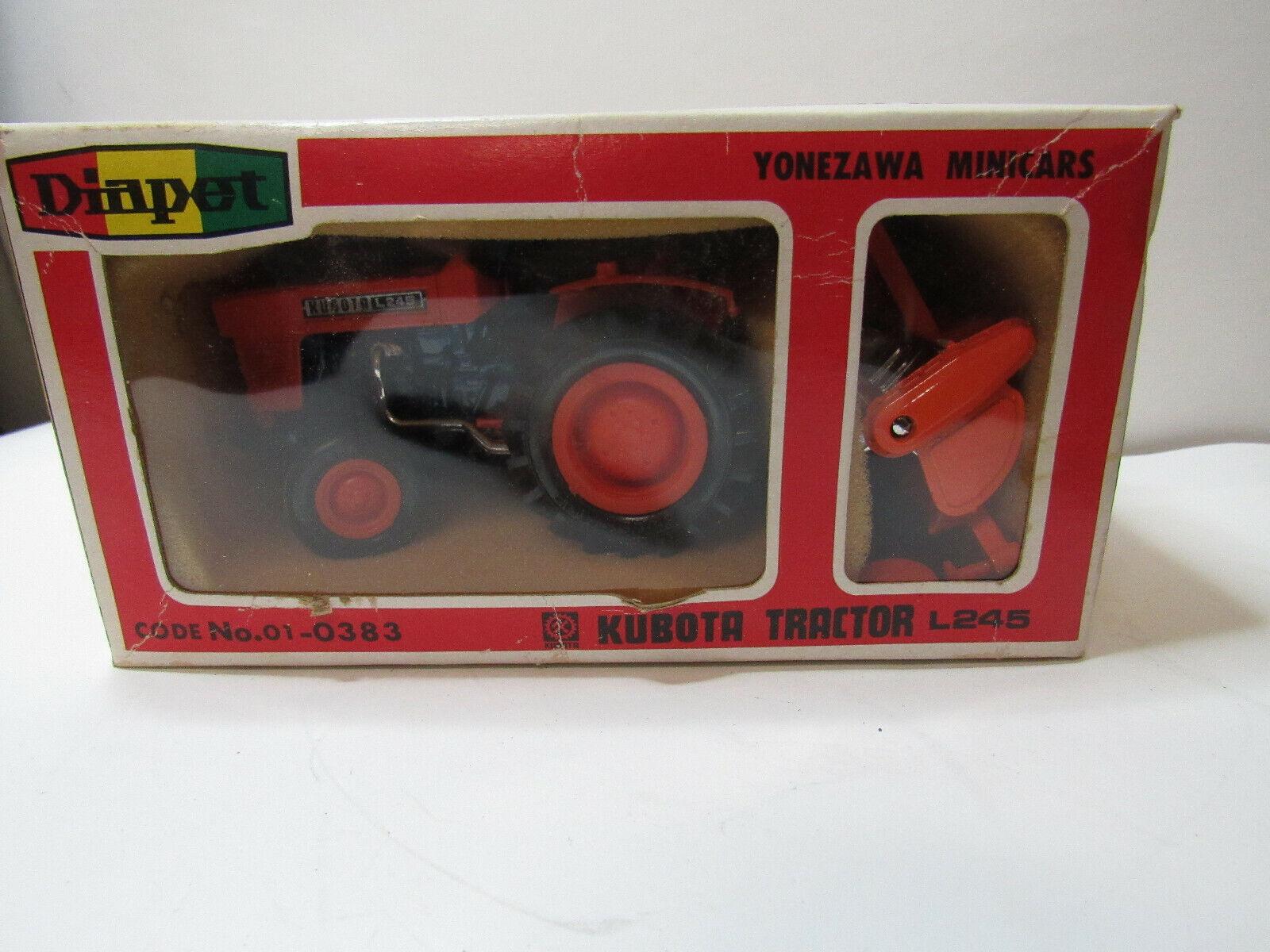 Kubota L245  Tractor & Rotar Tiller Toy Set 1 23 Diapet Die Cast Metal    a188