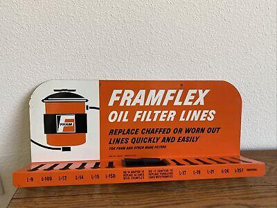 """8/"""" x 6.75/"""" STICKER FRAM GASOLINE STATION DECAL FOR SIGN OIL FILTER"""