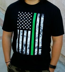 The-034-Thin-Green-Line-034-American-Flag-Graphic-T-Shirt-Vertical-Unisex