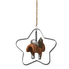 Saddle in Star Western Cowboy Theme Christmas Ornament