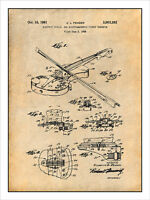 1958 Fender Electric Violin Patent Print Art Drawing Poster 18 X 24