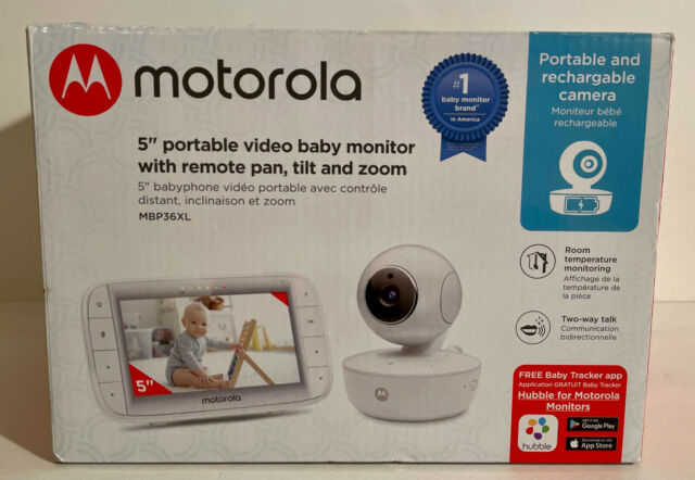 Motorola 5 Inch Portable Video Baby Monitor With Wi-Fi, Tilt & Zoom MBP36XL