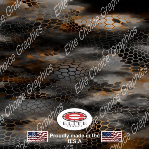"ChameleHex 2 Orange CAMO DECAL 3M WRAP VINYL 52/""x15/"" TRUCK PRINT REAL CAMOUFLAGE"