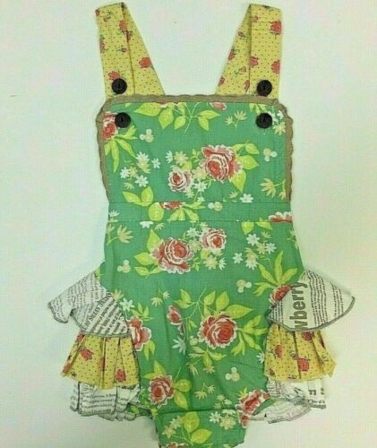 NWT Mustard Pie Baby Girls Size 3 months ~Savannah Sunsuit Andalusia Collection