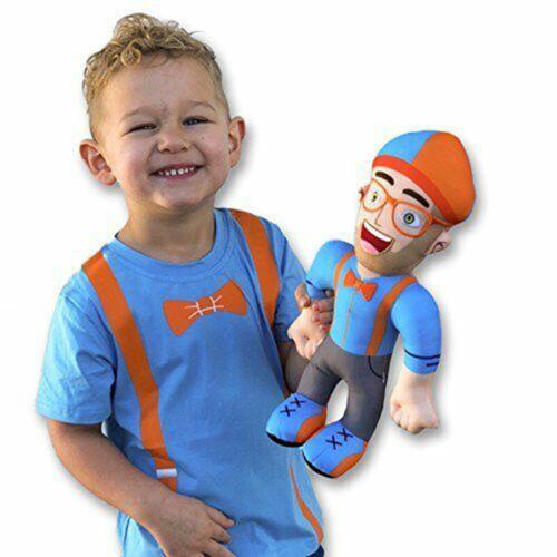 11//13/'/' Blippi Plush Toy Stuffed Doll Blippi Hat Cap Cake Topper Picks Prop Gift