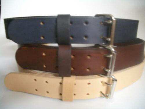 """2/"""" WIDE HEAVY DUTY HAND MADE LEATHER WORK GUN TOOLS HOLSTER 2 PRONG BELT"""