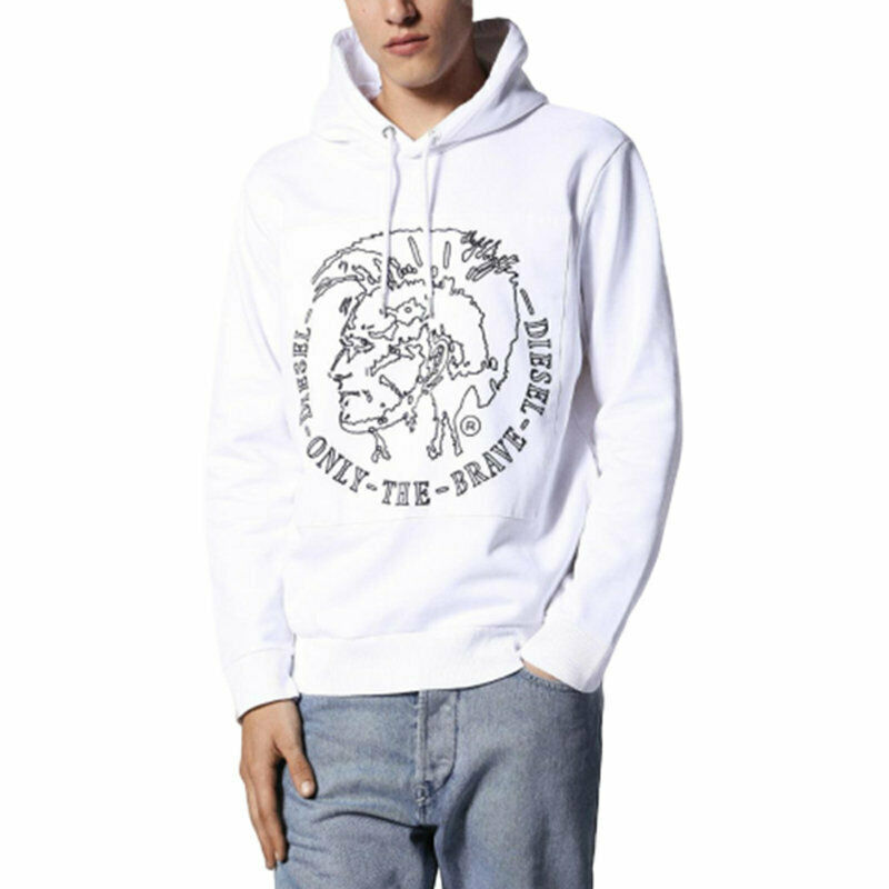DIESEL S ALBERT FELPA 100 Mens Hoodie Pullover Hooded Sweatshirt Lounge Wear