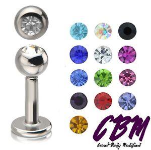 14g-1-4-034-Gem-Stainless-Steel-Labret-Lip-Monroe-Tragus-Ring-Stud-Medusa-Piercing