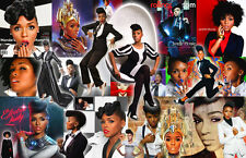 Janelle Monae Collage Poster