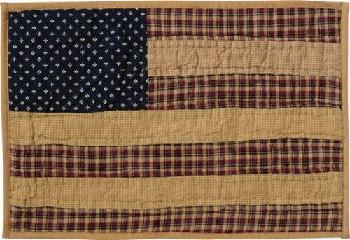Drapeau Américain Patriotique napperon Matelassé ~ Americana ~ rustique Table Mat Bougie Mat