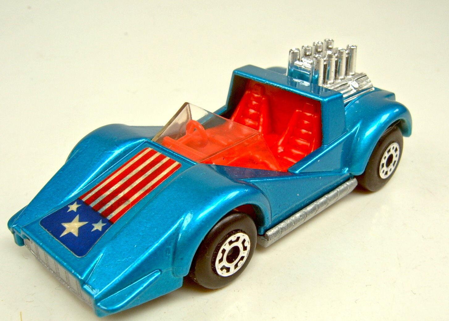 Matchbox Superfast No 55c Hellraiser bluee Metallic Red Body Top