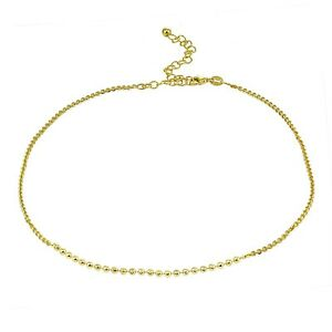 57b02a26da17 Image is loading Italian-Chain-with-Faceted-Beads-Choker-Necklace-in-