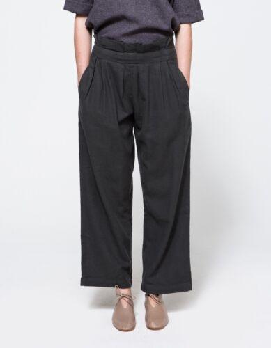 PPT-08 Black Crane Pleats Pants Black Totokaelo La Garconne Size S NWOT