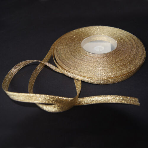 10 m Lurexband Glitzerband Dekoband Gold 6 mm