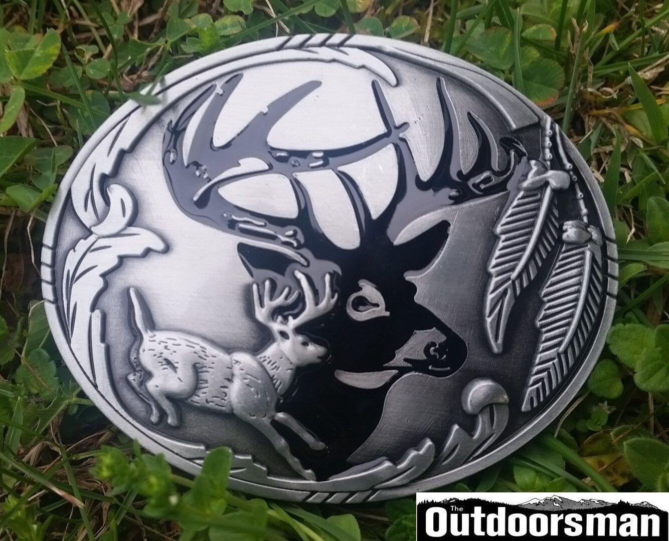 ✖ Buck running ✖Beautiful Belt Buckle Buck ✖ Deer silver color nice gift USA