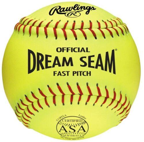 "Rawllings Dream Seam 11/"" ASA Leather Fastpitch Softball C11RYLA"