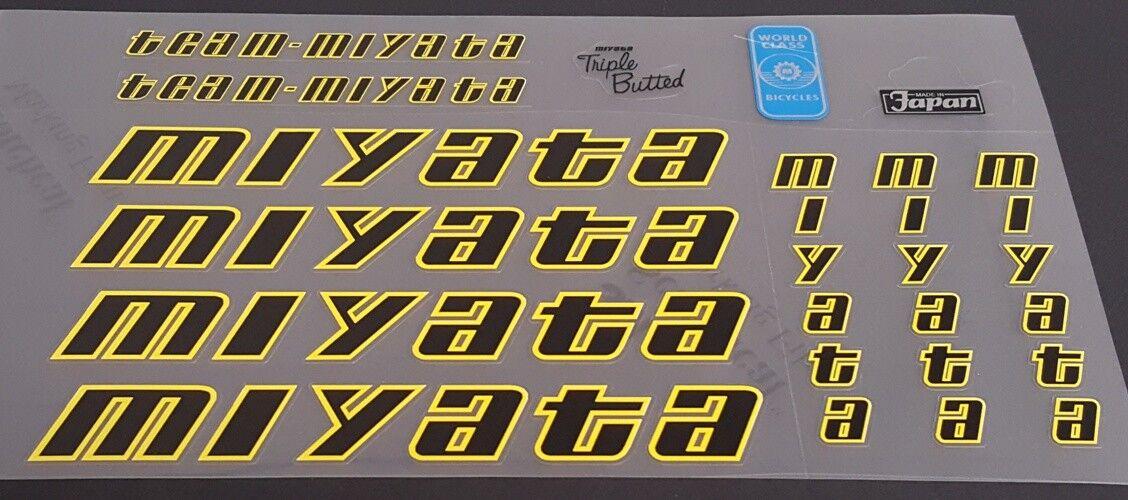 Team Miyata 1986  Bicycle Decal Set (sku Miya-S107)