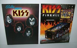 KISS-Set-of-2-Pinball-Machine-Flyers-Rare-1979-Bally-Brochure-Kiss-Premium