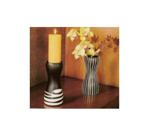 New In Box PartyLite African Inspiration Pillar Pair (P8762) FREE POSTAGE