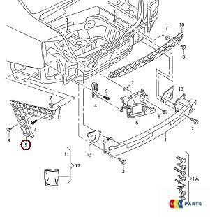 GENUINE AUDI A6 C7 11-14 AVANT N//S LEFT REAR BUMPER SUPPORT BRACKET 4G9807453E