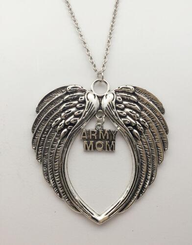 Nouveau Grand Angel/'s Wings avec armée maman collier