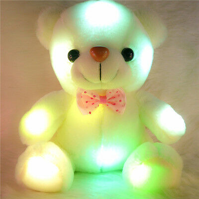 New Stuffed Night Light Plush Lovely Teddy Bear Soft Gift Doll Baby Toys Cute