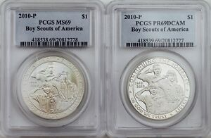 2010-P PCGS PR69DCAM Boy Scouts of America $1 Silver Coin