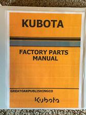 Kubota Kx080 4 Excavator Master Parts Amp Owners Operator Manual