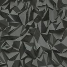 3d Effect Tetrahedron Black Charcoal & Grey Paste The Wall Wallpaper