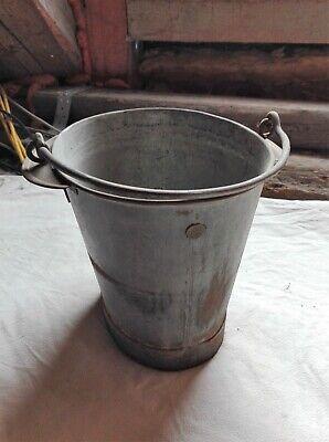 Metalleimer Pflanztopf Vintage Shabby Deko Rarität Gesundheit Effektiv StäRken Antiquitäten & Kunst Zinkeimer RÖscher 8 Liter