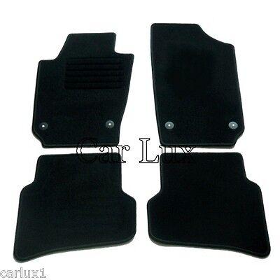RAU Ajuste Fuss Alfombrillas para Seat Toledo Color Negro