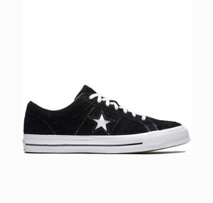 CONVERSE ONE STAR PREMIUM SUEDE LEATHER OX black white