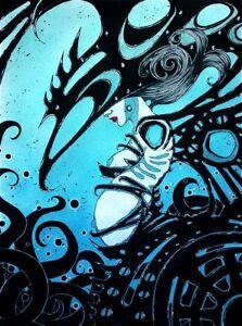 Gothic sci fi semi nude armored woman comic FANTASY ART 8