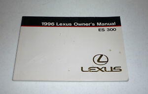 1996 lexus es300 owners manual guide 96 es 300 ebay rh ebay com free 1996 lexus es300 repair manual free 1996 lexus es300 repair manual