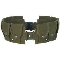 10-pocket Cartridge Belt Cotton Canvas Up To 58 Quick Release Od,khaki,black